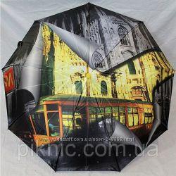 Женский зонт, польский, мегастильный, антиветер, карбон.
