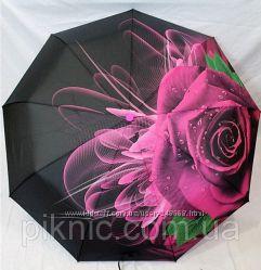 Женский зонт серия Чудные цветы , карбон, антиветер.