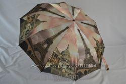 Облегченный женский зонт для сумки, Color dreams of Paris, полный автомат