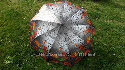 Женский зонт с 3Д эффектом Autumn Magic, сатин, суперкачество