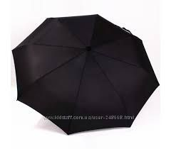 Мужской зонт, черный классический, на все случаи жизни