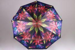 Женский зонт серии Mystery Flowers, карбон, антиветер, полуавтомат