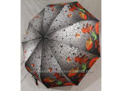Женский зонт Ее величество, осень , карбоновые спицы, антиветер