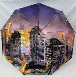 Сатиновый женский зонт Нью-Йорк, пр-во Польша