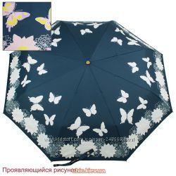 Женский проявляющийся, зонт серия Волшебные цветы