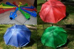 Пляжный зонт усиленный Диаметр 2 метра, с UF-покрытием, есть ассортимент