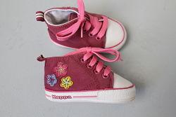 Kappa детские пинетки кроссовки с цветочками