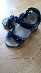 летние сандалии для мальчикадевочки 29 р, бу, серо-желтые
