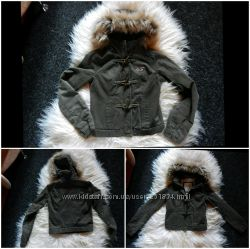 Hollister куртка на меху, парка, оригинал, курточка с капюшоном