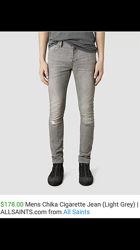 AllSaints джинсы оригинал узкачи XS