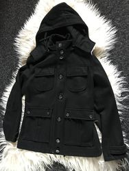 Topman пальто шерсть стильное с капюшоном оригинал