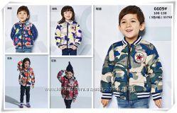 Стильные детские курточки. унисекс. Размеры 100-130.