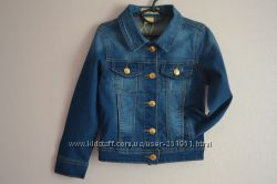 Классический джинсовый пиджак на девочек. Размеры от 4-х до 7-ми лет