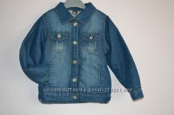 Утепленный джинсовый пиджак Zara на мальчика. Размеры от 2-х до 8-ми лет
