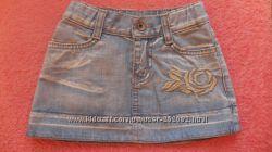 Юбка джинсовая на 2-4 года, р. 104