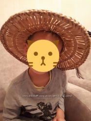 Соломенная шляпа для детей на прокат