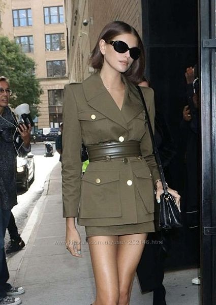 H&M новый пиджак куртка хаки, сафари