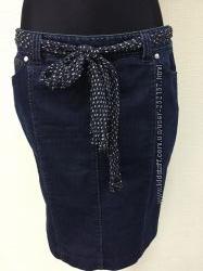 Джинсовая юбка карандаш Armani Collezioni