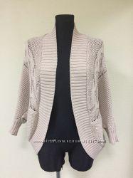 Бежевый стильный кардиган крупной вязки Zara Knit