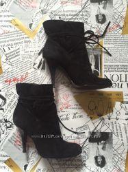 Черные ботильоны женские ботинки Calvin Klein