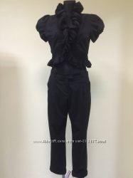 Черные женские укороченные брюкиTOPSHOP