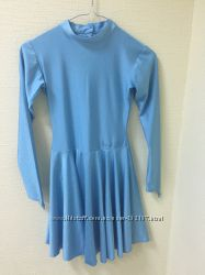 Детское голубое платье для танцев