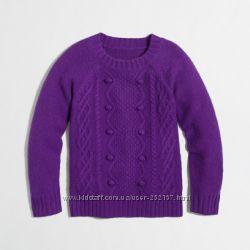 Детский шерстяной фиолетовый свитер J. Crew