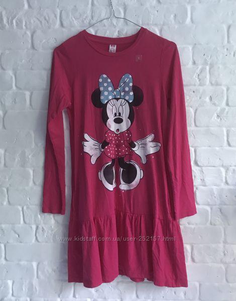 Розовое платье с минни на девочку UNIQLO юникло