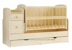Детская кроватка трансформер Baby Sleep Angela DTP-S-B