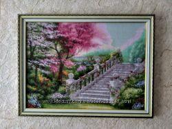 картина вышитая Лестница