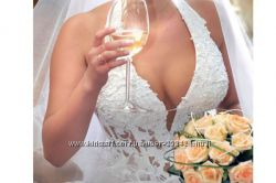 свадебный корсет в камнях Сваровски