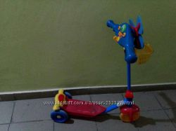 Детский самокат-скутер с подсветкой Забавные Огоньки синий Kiddieland