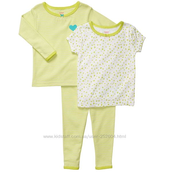 Пижама Carters Картерс для девочки три предмета
