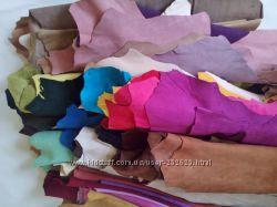 Цветной замш  велюр натуральный в шкурках или в отрезах