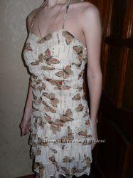 Летнее платье с бабочками