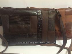 комбинированные сумочки в коричневом тоне