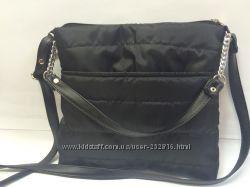 Стеганная сумка с декоративным ремешком