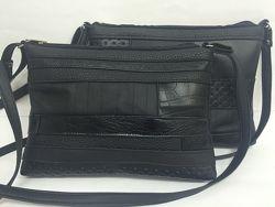 Черные комбинированные женские сумки - распродажа