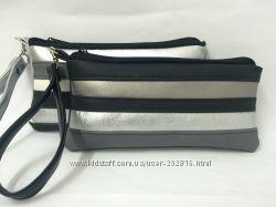 Серебристо-черные космктички на ремешке для руки