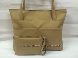 Новая модная сумка в комплекте с сумочкой-косметичкой модель 111112