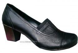 Турция Кожаные женские осенние туфли с резинками большого размера 41, 43