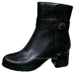 Женские кожаные осенние ботинки бренд Mariа Moro