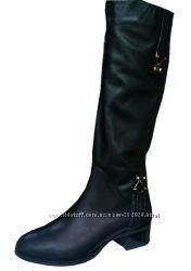 Женские зимние сапоги Foletti Европейка на каблуке большого размера