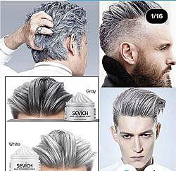 Воск для волос белый, серебро серебристый седой 120 грамм
