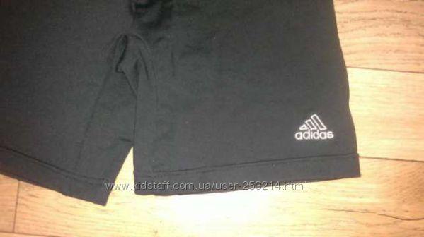 Adidas Адидас шорты штаны велотреки лосины тренировочные фитнес 34-36