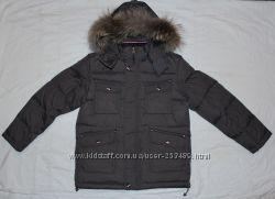 Удлиненная зимняя куртка мальчик на пуху размеры 134, 140, 146, 152, 158см