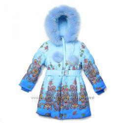 Пальто для девочки Kiko 3327 тинсулейт 4ЦВЕТА р-р 116, 122, 128, 134см