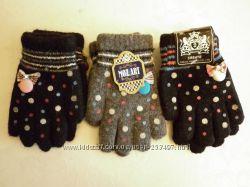 детские перчатки на 3-4 года, новые