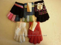 детские перчатки на 5-6 лет для девочек и мальчиков, новые