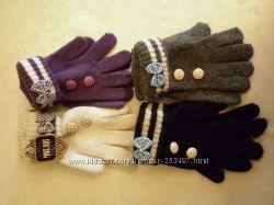 детские перчатки на 8-12 лет, новые